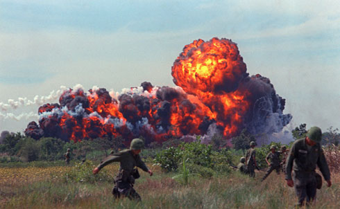 """In an April 12, 1975 editorial, The Nation describes the last exodus of US troops from Vietnam and the unceremonious end of that shameful war. Americans no longer had the will to fight and die in a far-off country, and the """"disastrous rout of panic-stricken troops in South Vietnam… suddenly and dramatically illuminated the folly of American intervention in that unhappy land."""" The bitter lesson of the debacle, according to The Nation, is that """"we betrayed our own national ideals when we intervened.""""  APImages"""