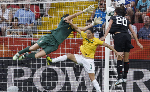 In a straightforward representation of a sportswoman's athletic competence, the athlete is portrayed in uniform, on court and in action. In Kane's research, this mode of representation was the most likely to increase fans' interest in women's sports.