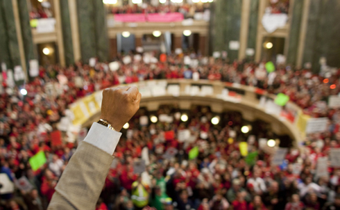 Government workers face attacks in every state. Ohio, South Dakota, Colorado, Michigan, Nebraska, New Hampshire and Oklahoma are also considering collective bargaining for public sector workers, and if Walker is successful, other states are expected to follow suit.