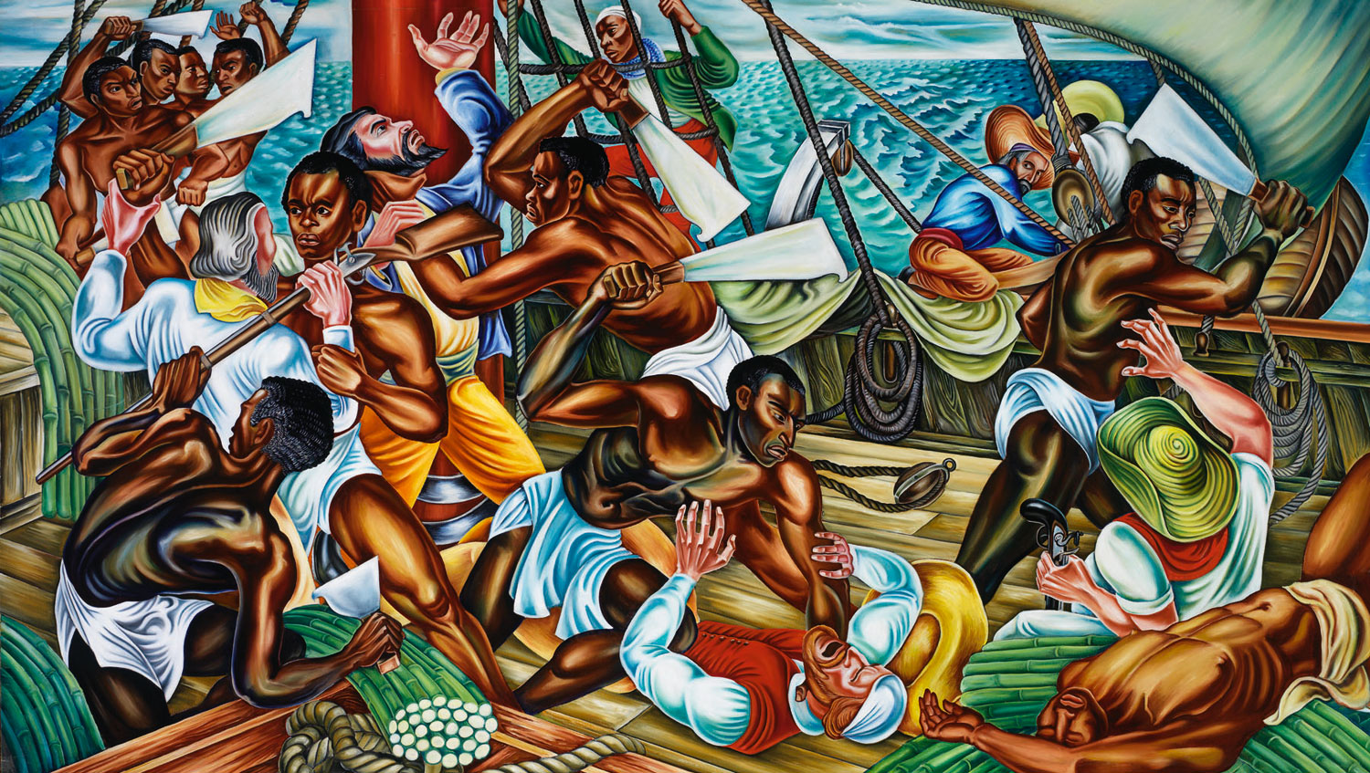reading melville in post 9 11 america the nation hale woodruff s mural mutiny on the amistad 1939 courtesy of talladega college alabama
