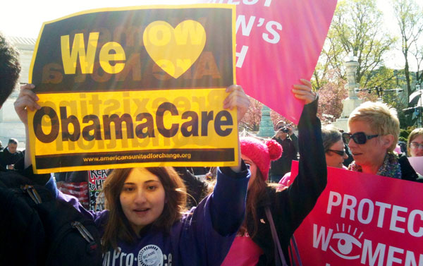 Young people supportive of Obamacare