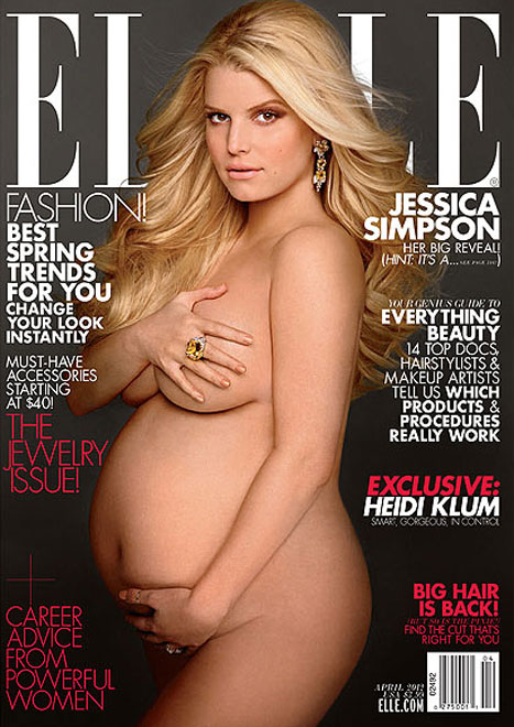 Jessica Simpson on the cover of Elle