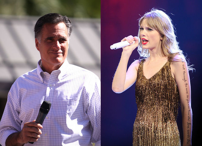 Mitt Romney and Taylor Swift