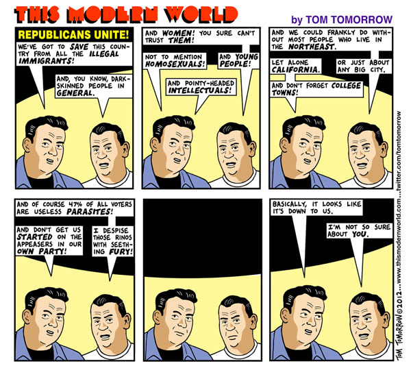 Tom Tomorrow cartoon: Republicans Unite!