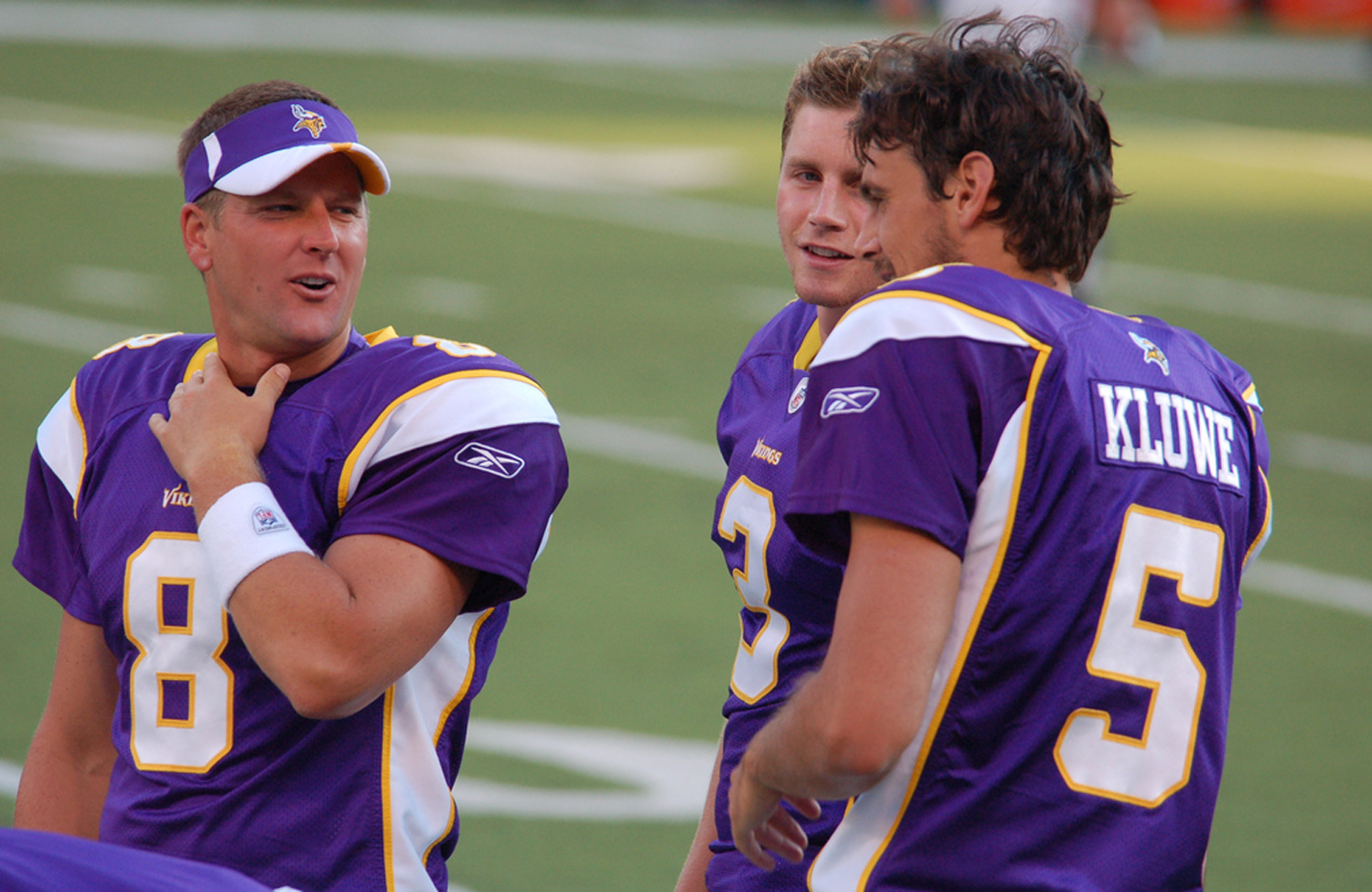 Former-Minnesota-Vikings-punter-and-outspoken-gay-rights-activist-Chris-Kluwe-chats-with-some-of-his-ex-teammates.-Licensed-through-Creative-Commons.-Courtesy-of-Flickr-user-Ioweonthego-CC-BY-SA-2.0