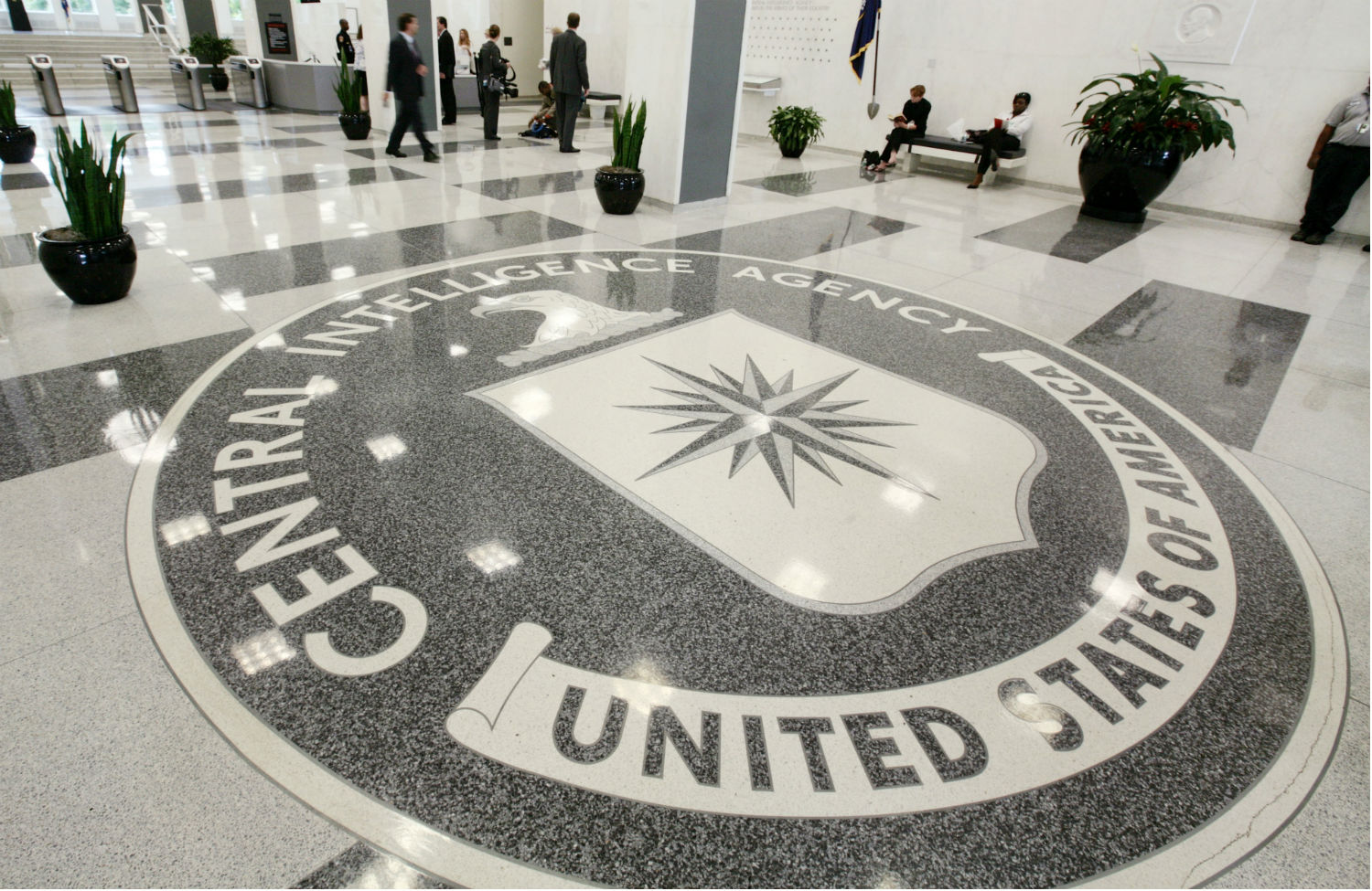 The-lobby-of-the-CIA-headquarters
