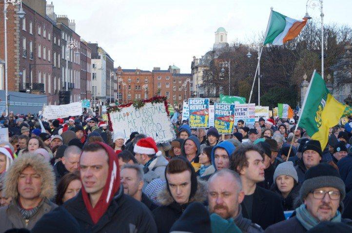 Protesters-in-Dublin