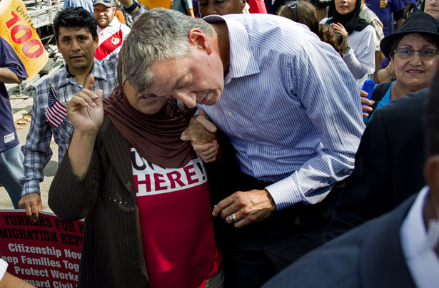 pBill-de-Blasio-after-an-immigration-reform-march-earlier-this-month.-AP-PhotoCraig-Ruttlep
