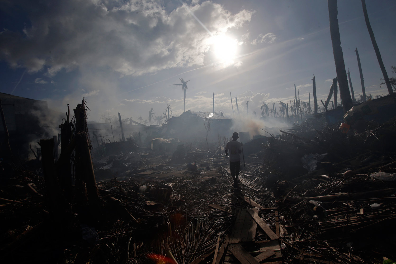 climate change is the tragedy of the global commons the nation a neighborhood in the devastated by typhoon haiyan reuters john javellana
