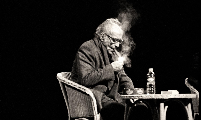 Jean-Luc-Godard-at-Cinéma-L'Eden-in-Le-Havre-France-2004