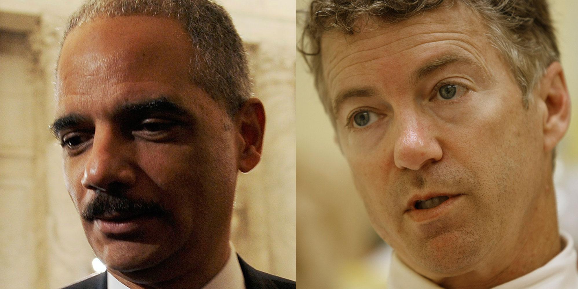 Attorney-General-Eric-Holder-ReutersJonathan-Ernst-and-Kentucky-Senator-Rand-Paul-AP-PhotoEd-Reinke