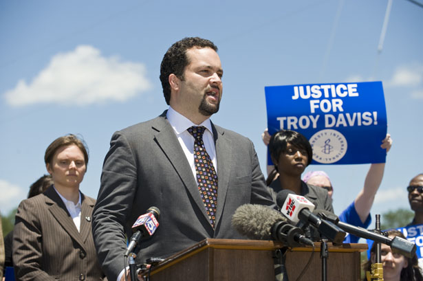 NAACP-president-Ben-Jealous-speaks-with-the-media-across-the-street-from-the-Georgia-Diagnostic-and-Classification-Prison-after-visiting-with-then-death-row-inmate-Troy-Anthony-Davis.-AP-Photo