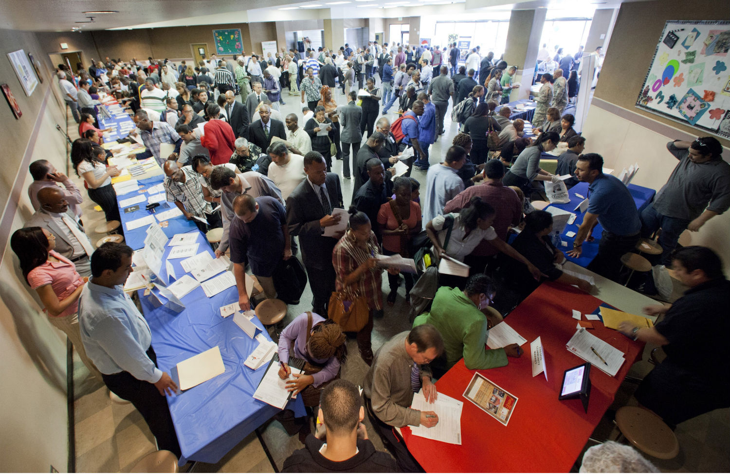 why are employers checking job applicants credit histories the job seekers gather at a career fair in los angeles ap photo damian dovarganes
