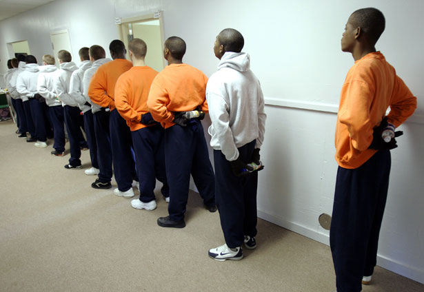 pemJuvenile-inmates-at-the-Department-of-Youth-Services-boot-camp-in-Prattville-Alabama.-AP-PhotoRob-Carremp