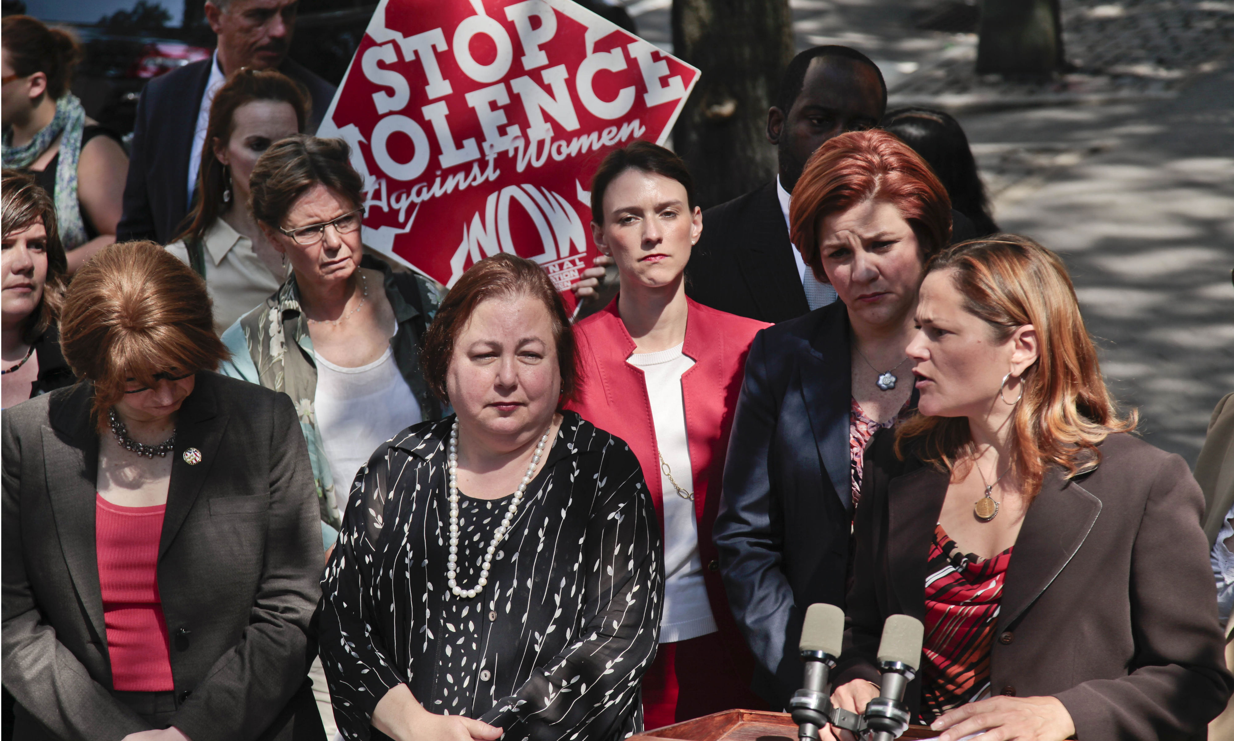 City-Council-member-Melissa-Mark-Viverito-right-speaks-at-a-news-conference-as-advocates-in-the-fight-against-violence-on-women.-AP-Photo