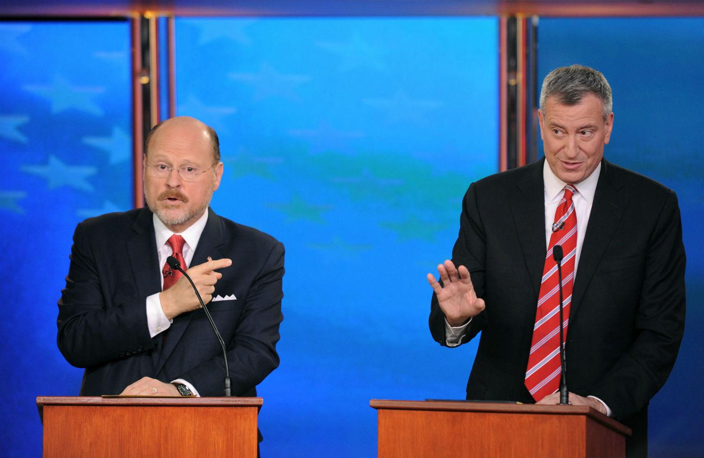 pemJoe-Lhota-and-Bill-de-Blasio-during-their-final-debate.-AP-PhotoWall-Street-Journal-Peter-Foleyemp