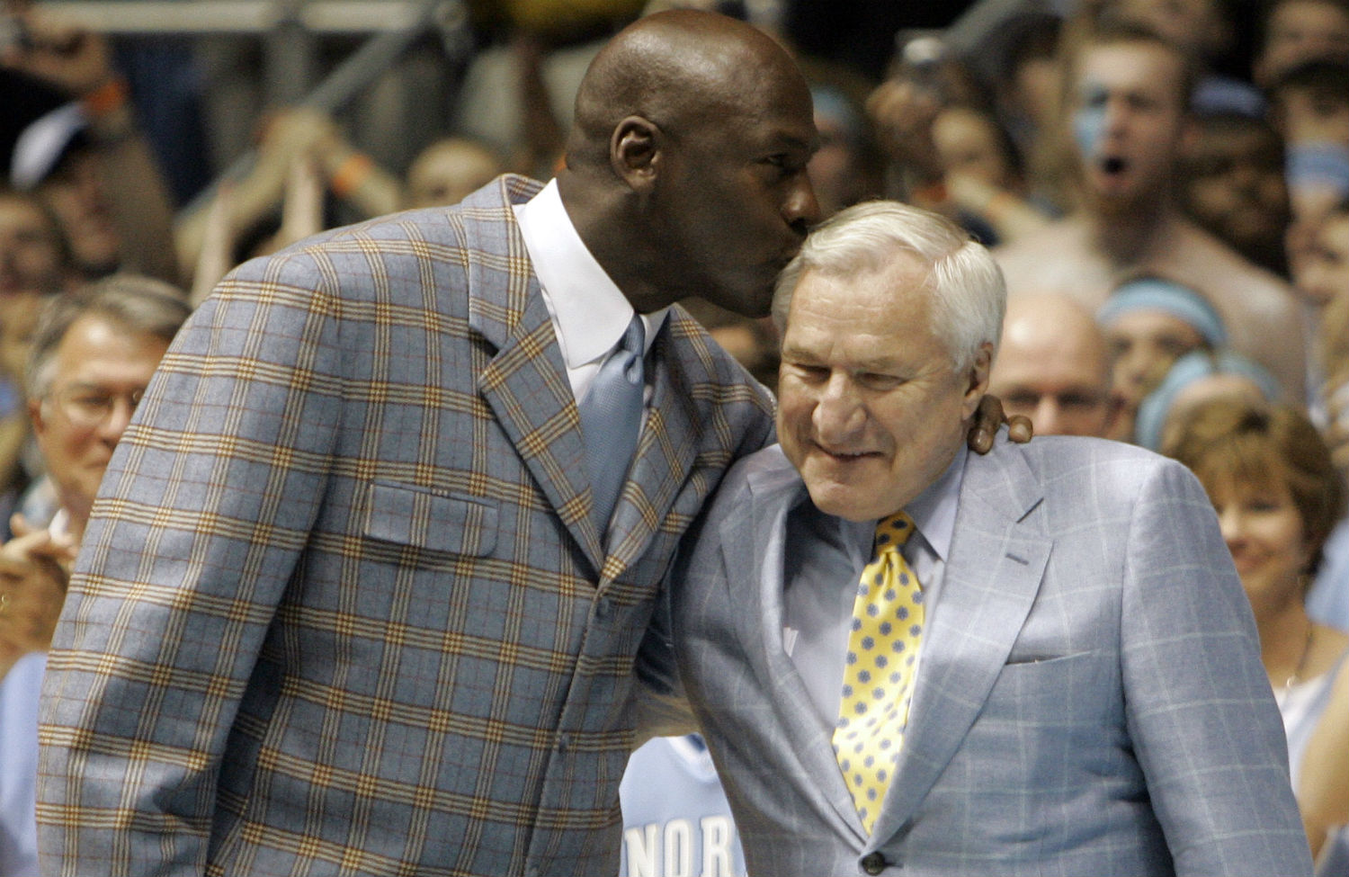 Michael Jordan Left And Dean Smith Right Ap Photo Gerry Broome