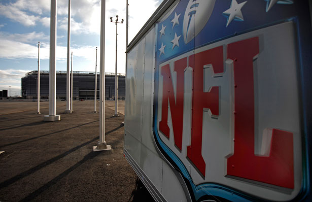 The-NFL-logo-is-seen-on-a-trailer-parked-near-the-New-Meadowlands-Stadium.-Reuters-Photo
