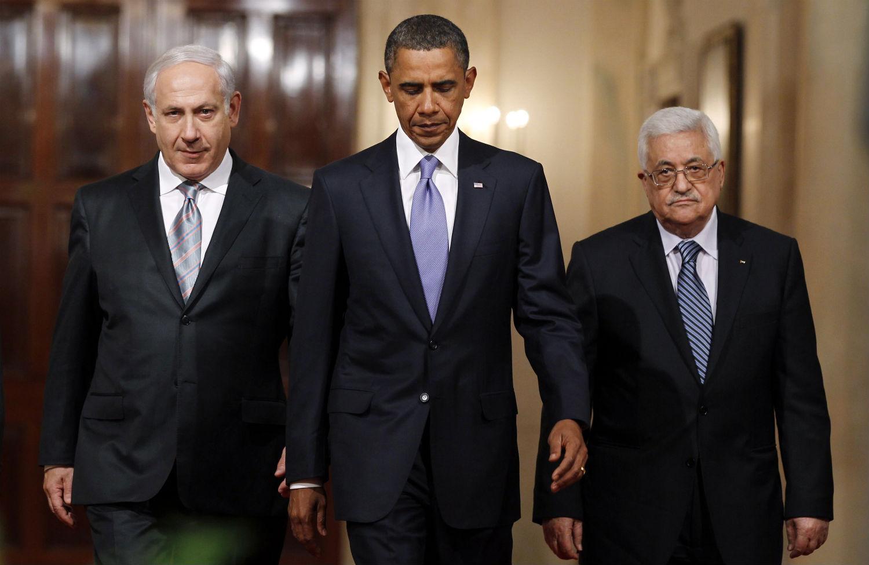 Obama-Abbas-and-Netanyahu