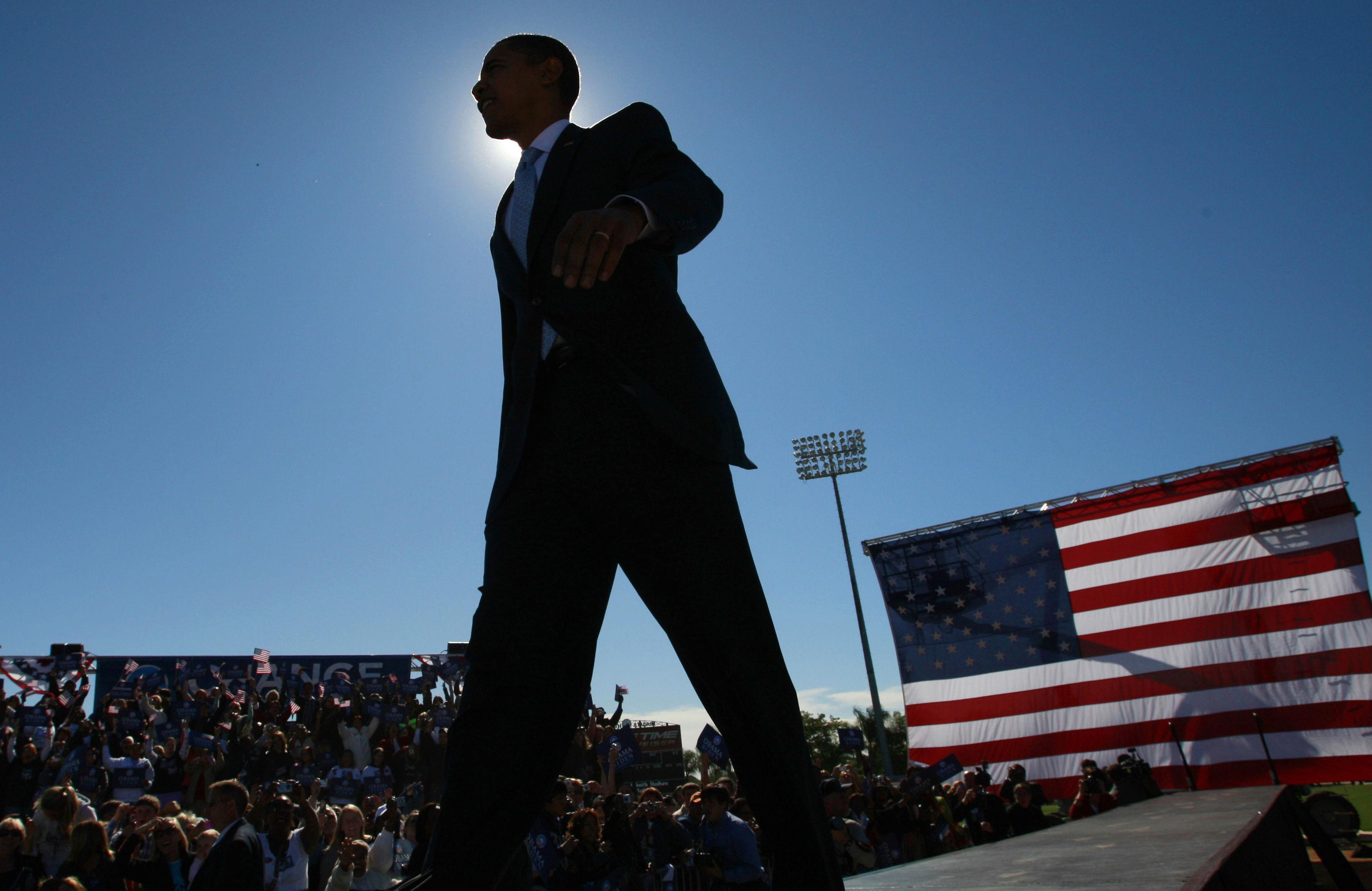 Obama-American-Flag