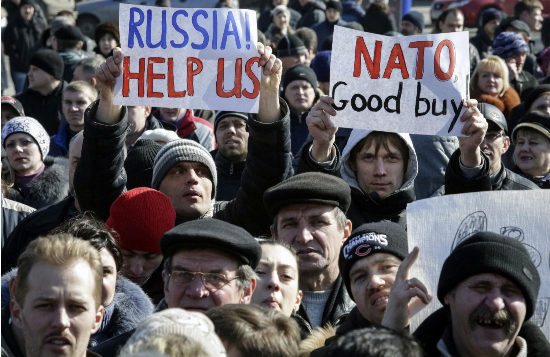 Pro-Russia-protesters
