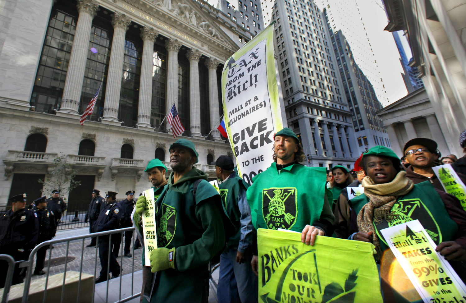 Occupy-Wall-Street-Protesters-demand-a-Robin-Hood-Tax