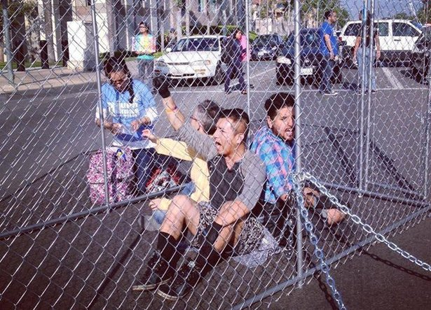 Students-Blockade-for-Trans-Justice-Dish-18000-Red-Squares-and-Push-California-to-Divest-From-Guns