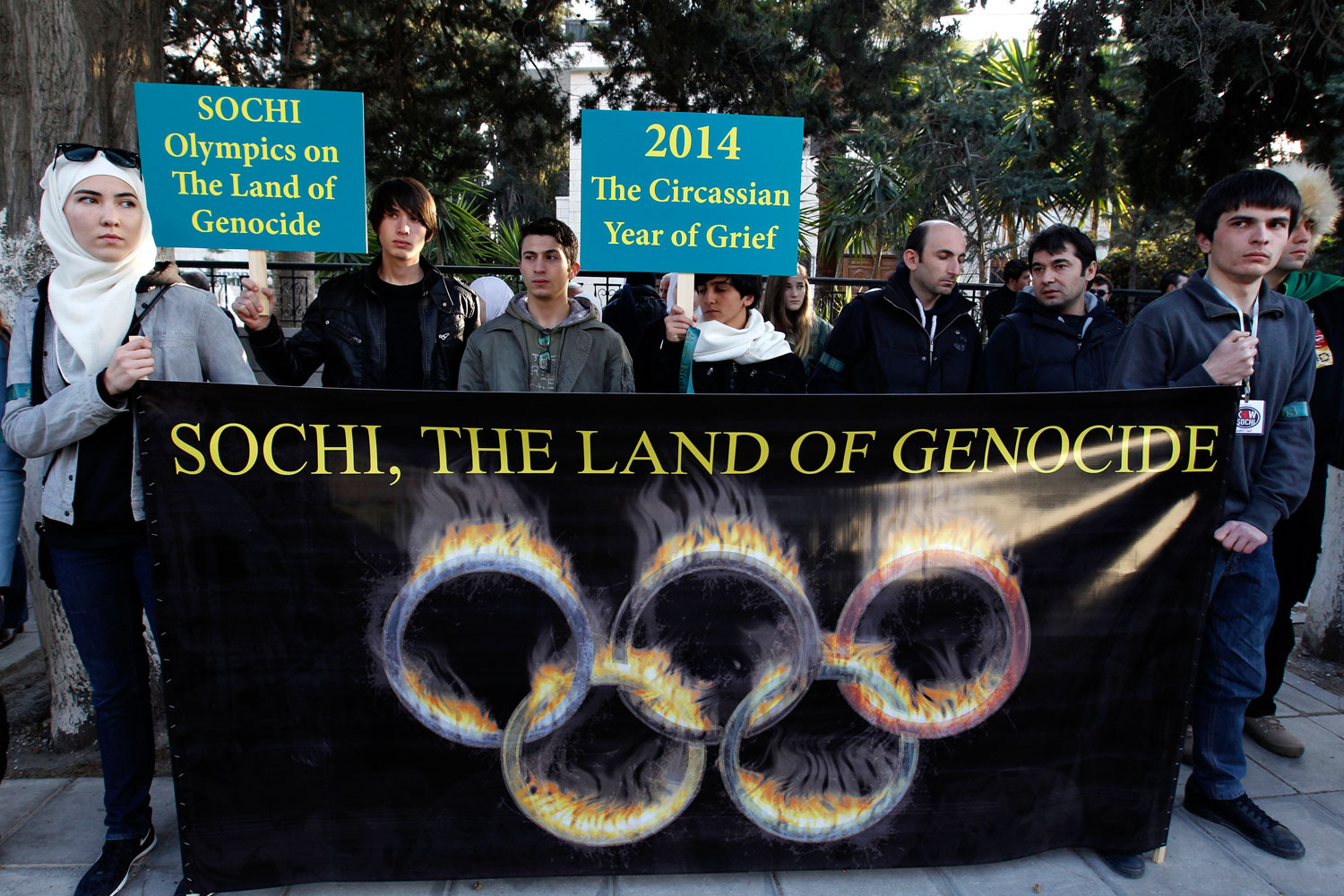 Ethnic-Circassians-protest-the-Sochi-Games