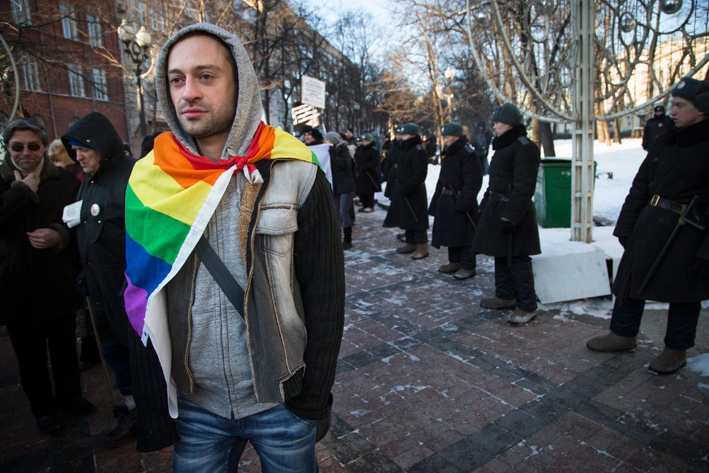 LGBT-protestor