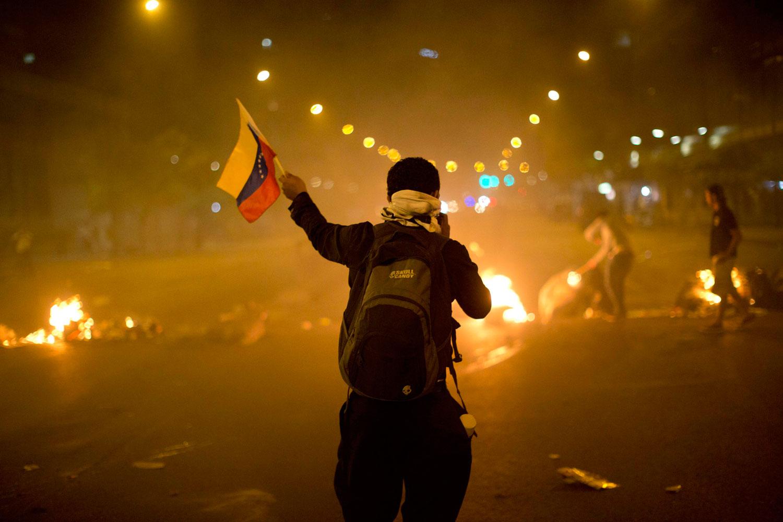 Venezuelan-protester