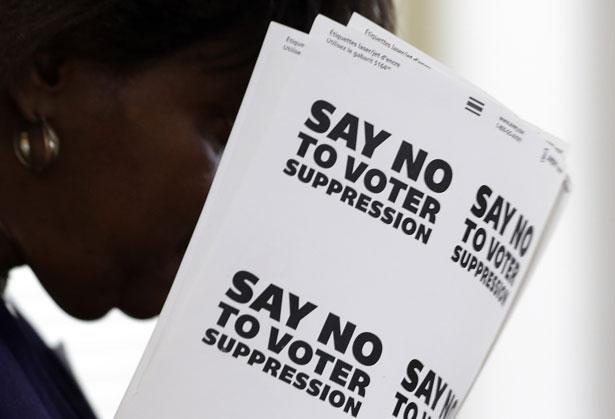 Anti-voter-repression-signs