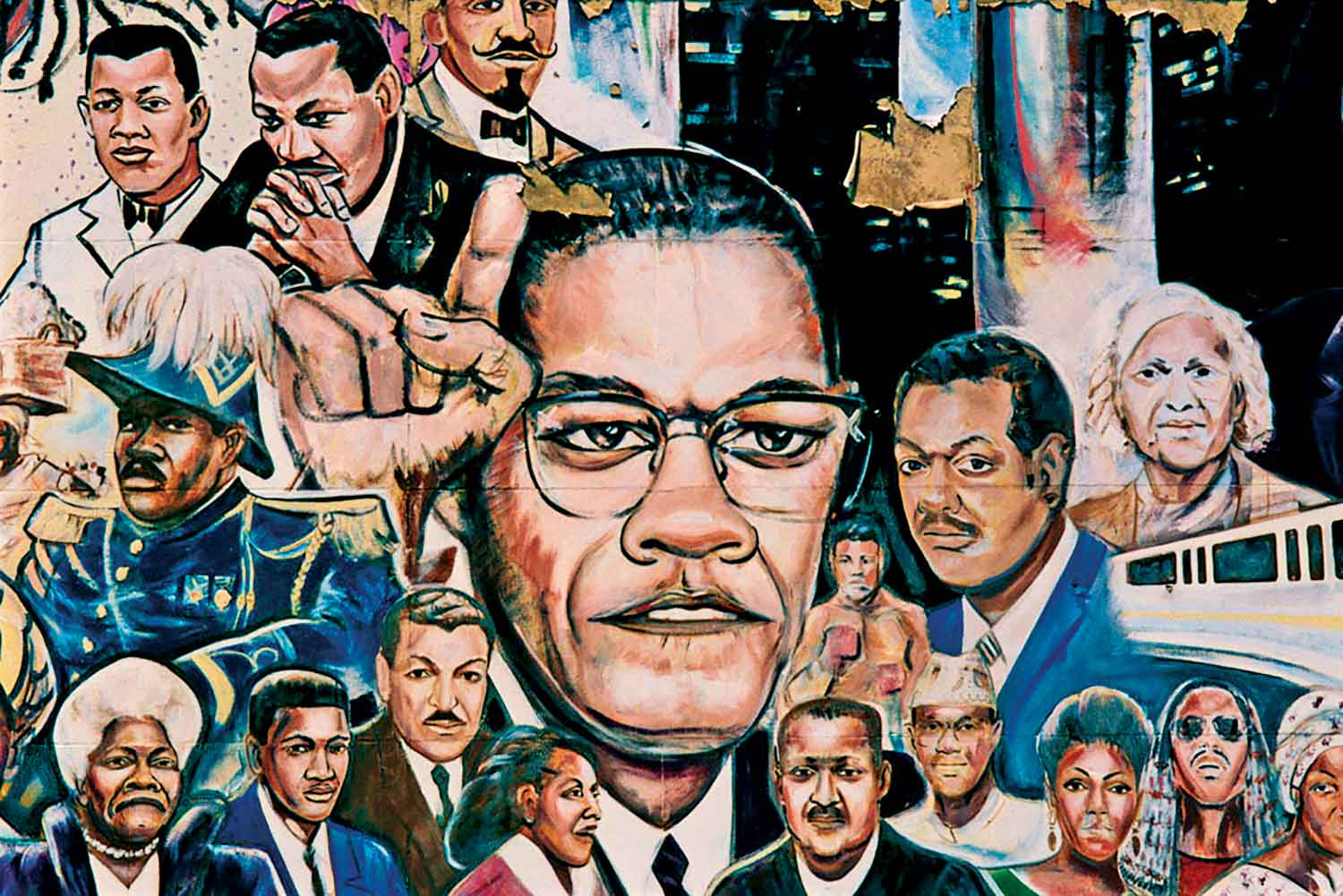 Snapshot malcolm x across america the nation for Malcolm x mural