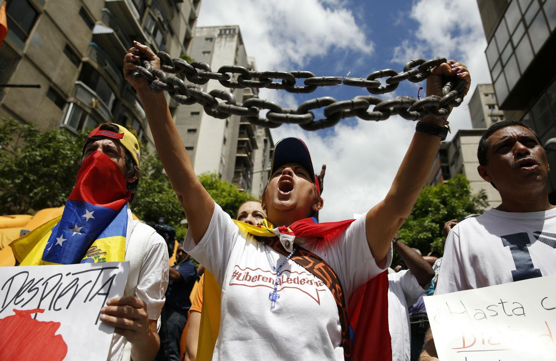 Protest-in-Caracas-Venezuela