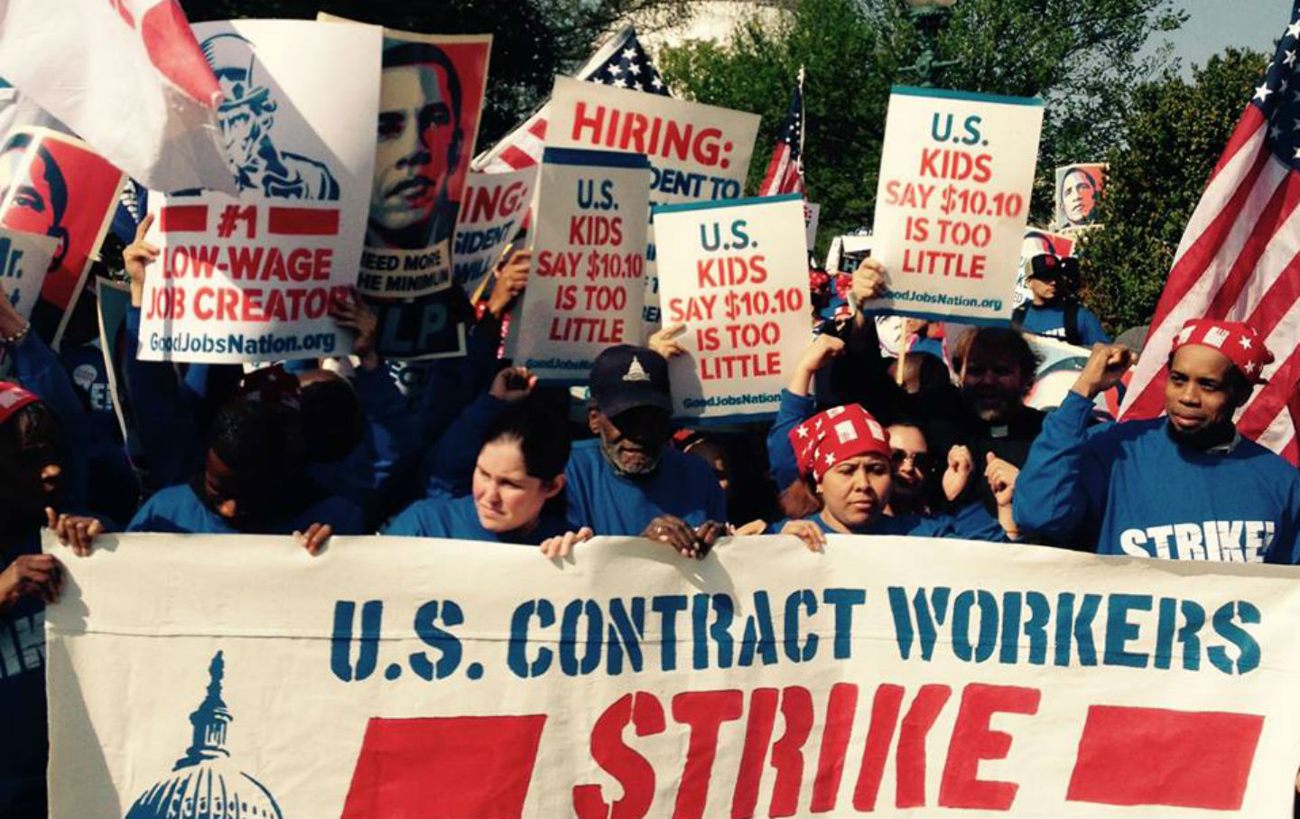 Federal-contract-workers-on-strike