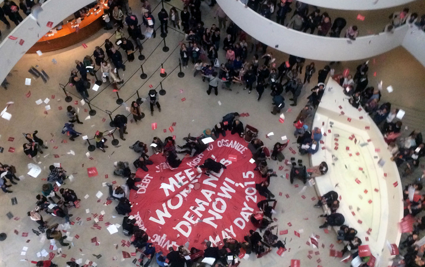 G.U.L.F.-occupies-the-Guggenheim-on-May-Day-2015