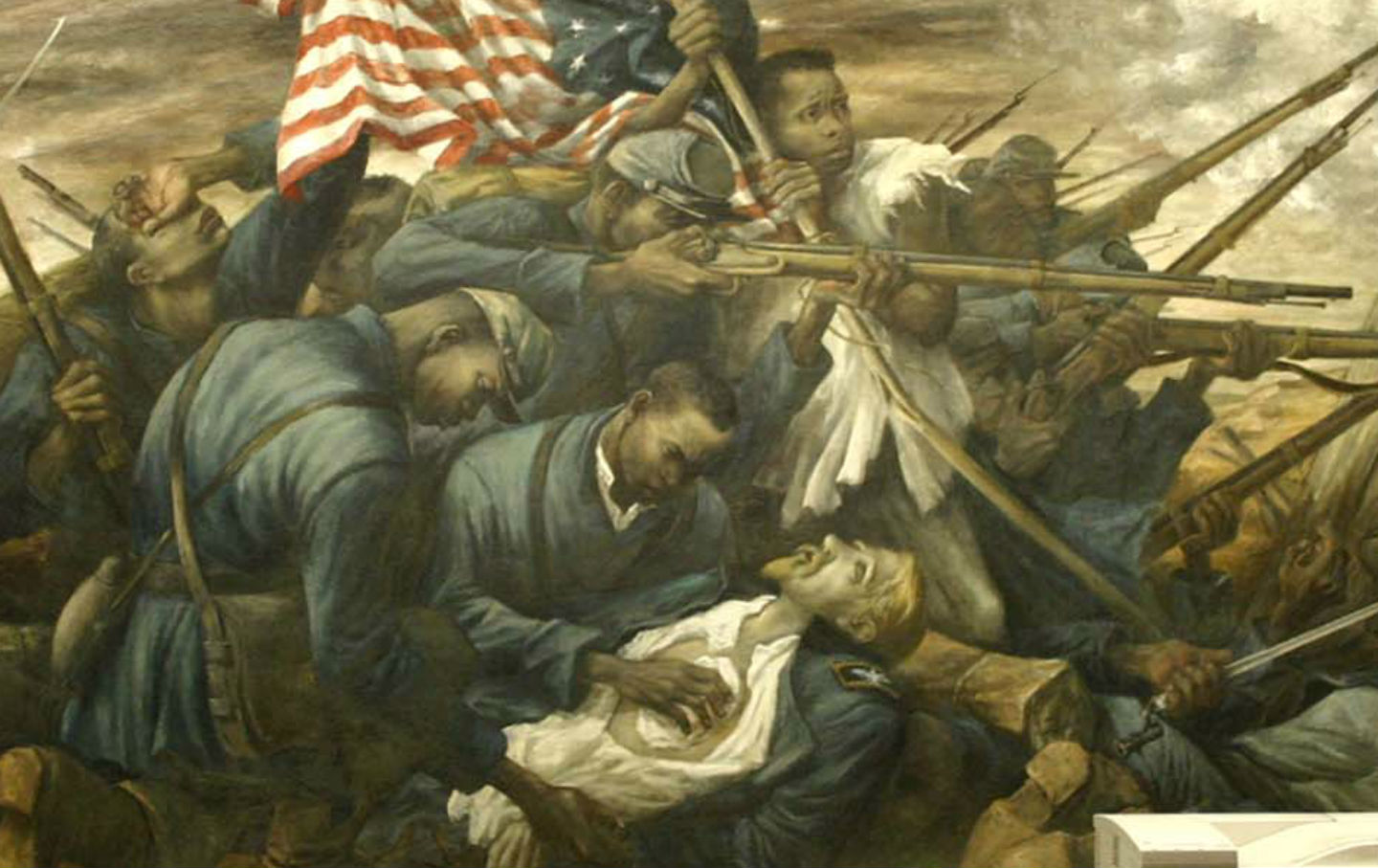 Mural-depicting-the-United-States-Colored-Troops-Massachusetts-54th-Regiment