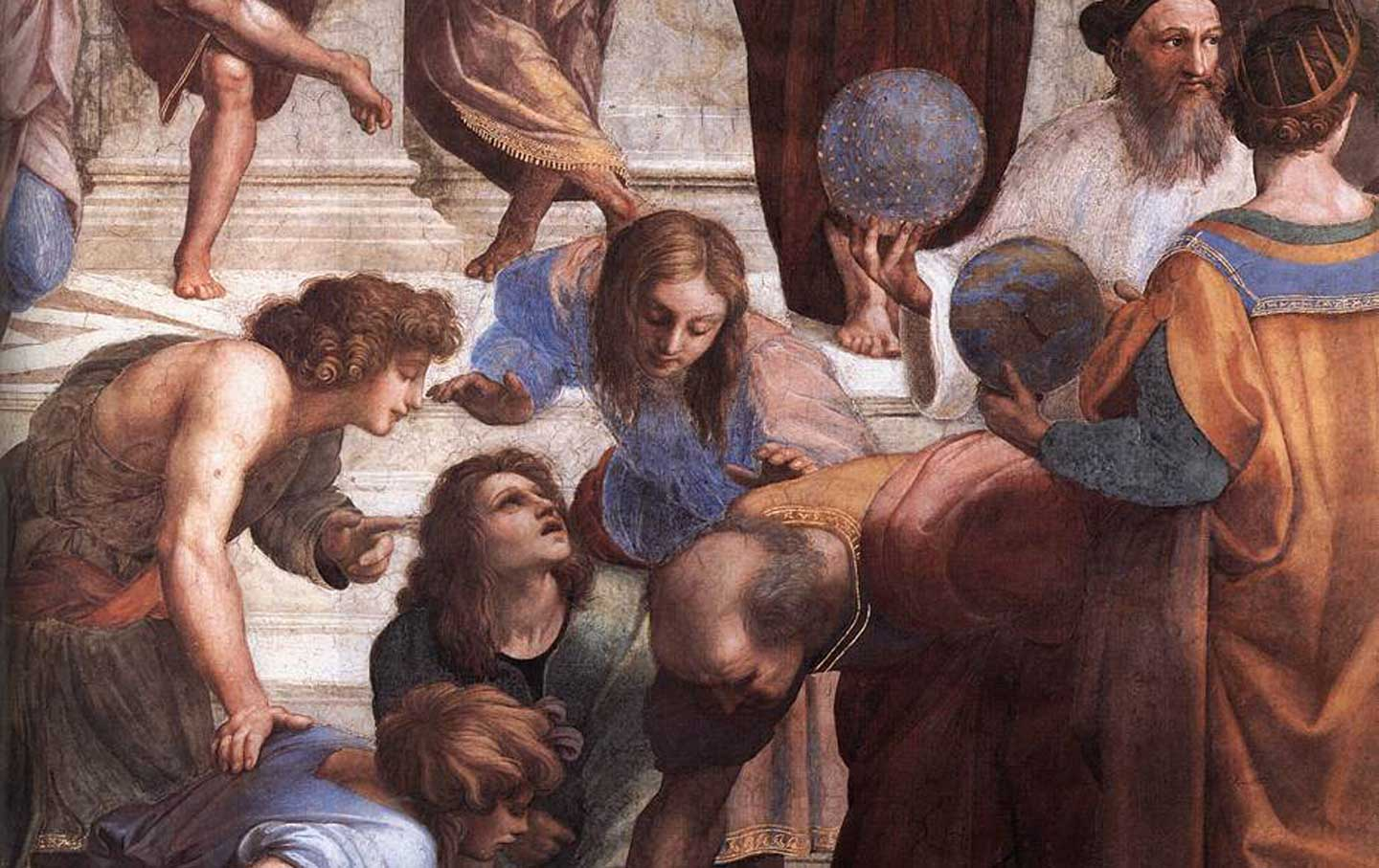 Zoraster-holds-the-celestial-sphere-in-Raphael's-School-of-Athens-1509–11