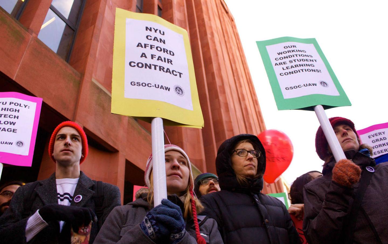 NYU-graduate-student-protest