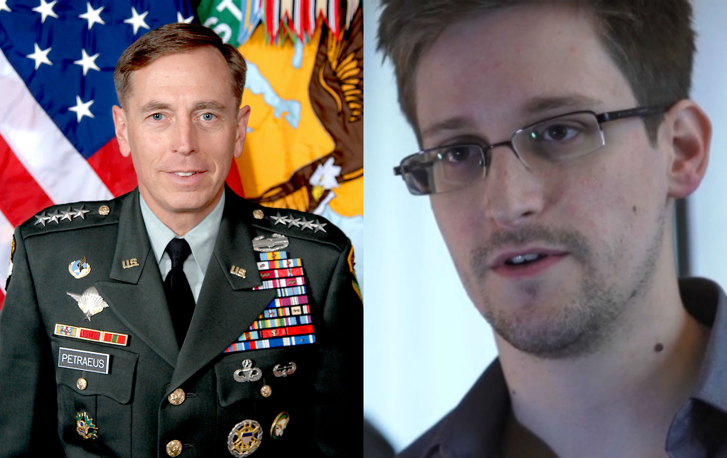 General-David-Petraeus-and-Edward-Snowden