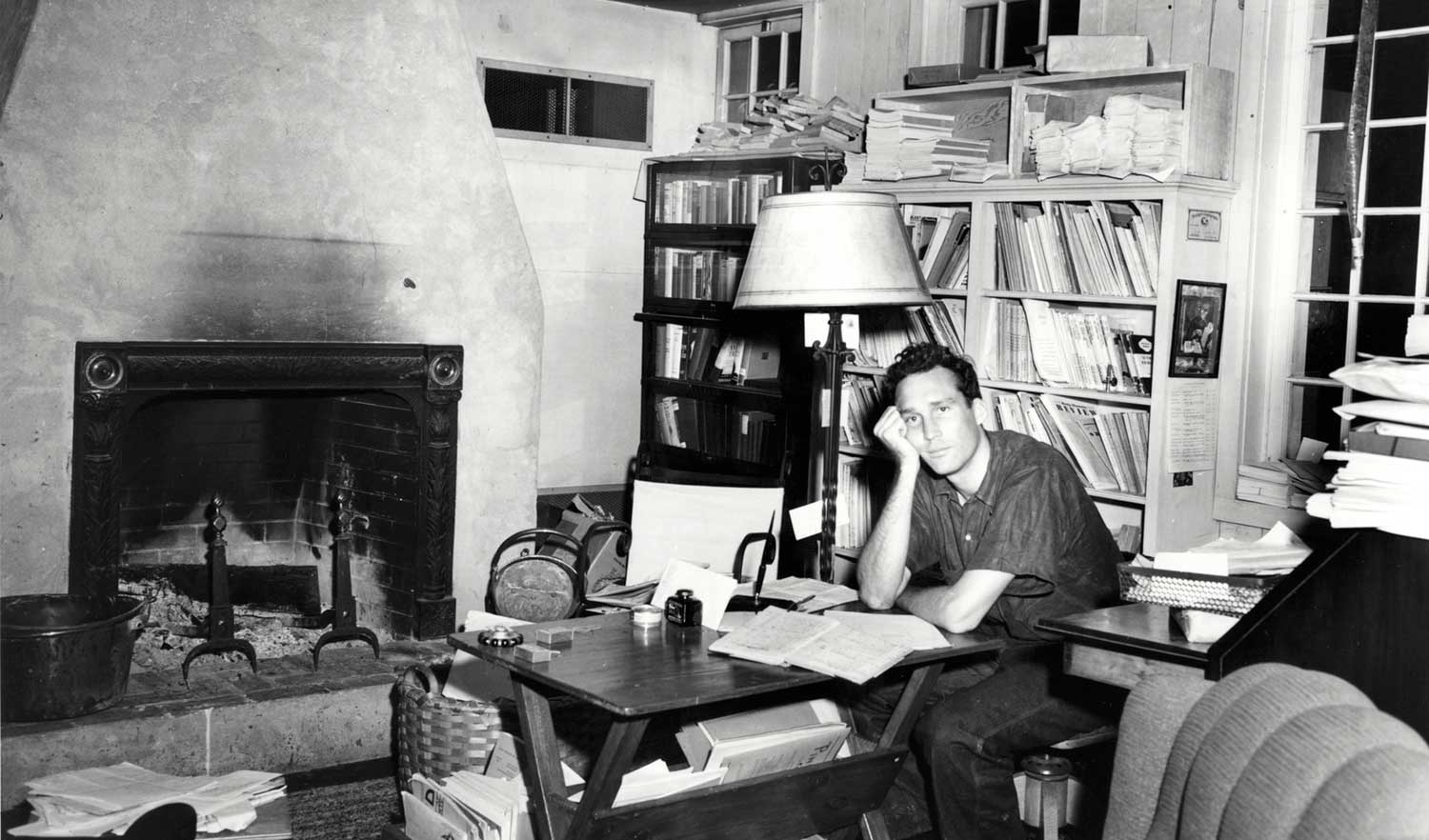 James-Laughlin-in-his-office-in-the-White-Cottage-Norfolk-Connecticut-1941