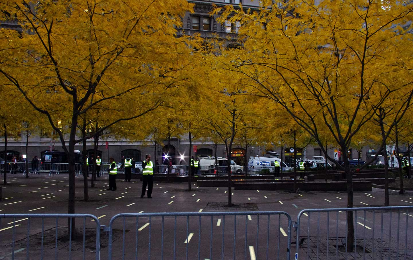 Zuccotti-Park-in-downtown-Manhattan-after-the-eviction-of-Occupy-Wall-Street-protesters-November-15-2011