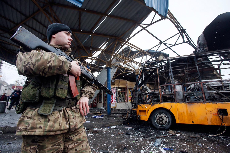 Shelled-bus-station-in-Donetsk