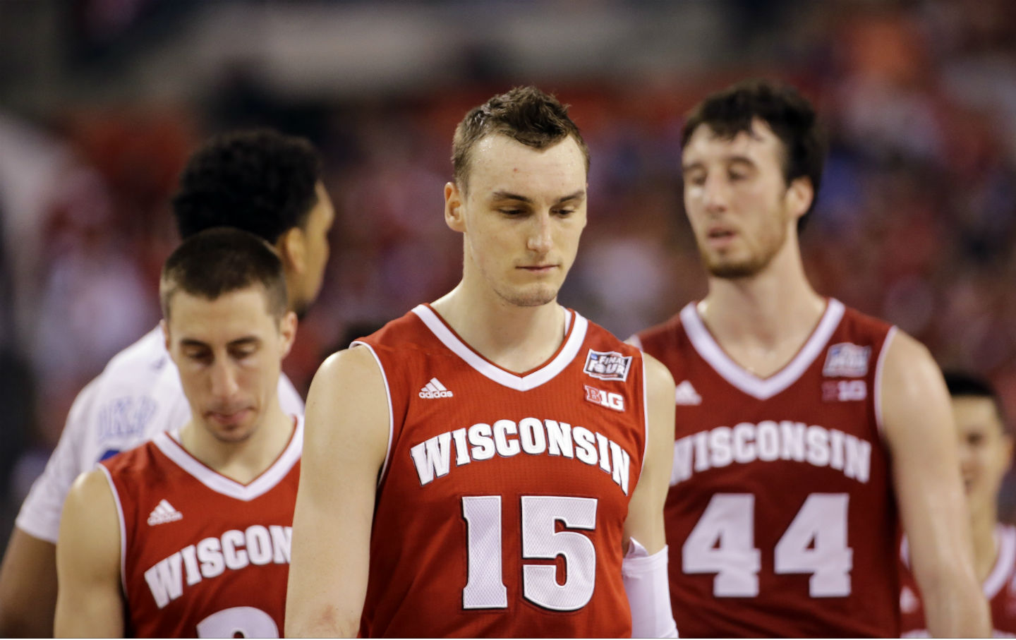 new style 40093 b6e86 The Wisconsin Badgers fell to the Duke Blue Devils 68-63 in last night s  NCAA men s basketball championship game. (AP Photo David J. Phillip)