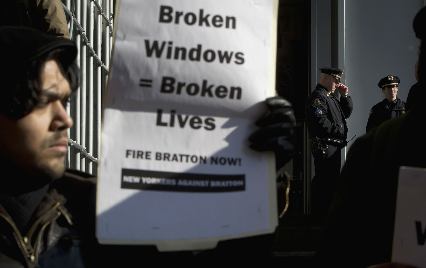 Protest against Broken Windows