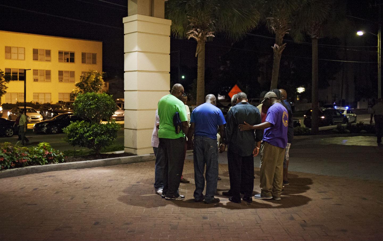 Prayer circle following Charleston shooting