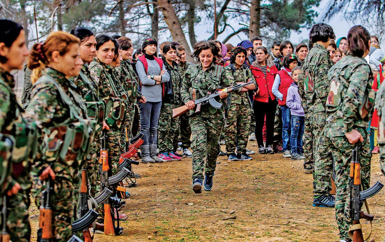 Female Kurdish Soldier