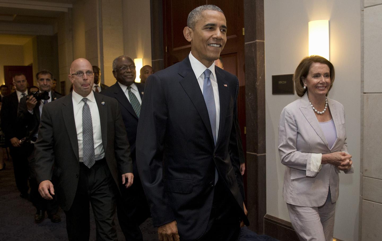 James Clyburn. Barack Obama, Nancy Pelosi