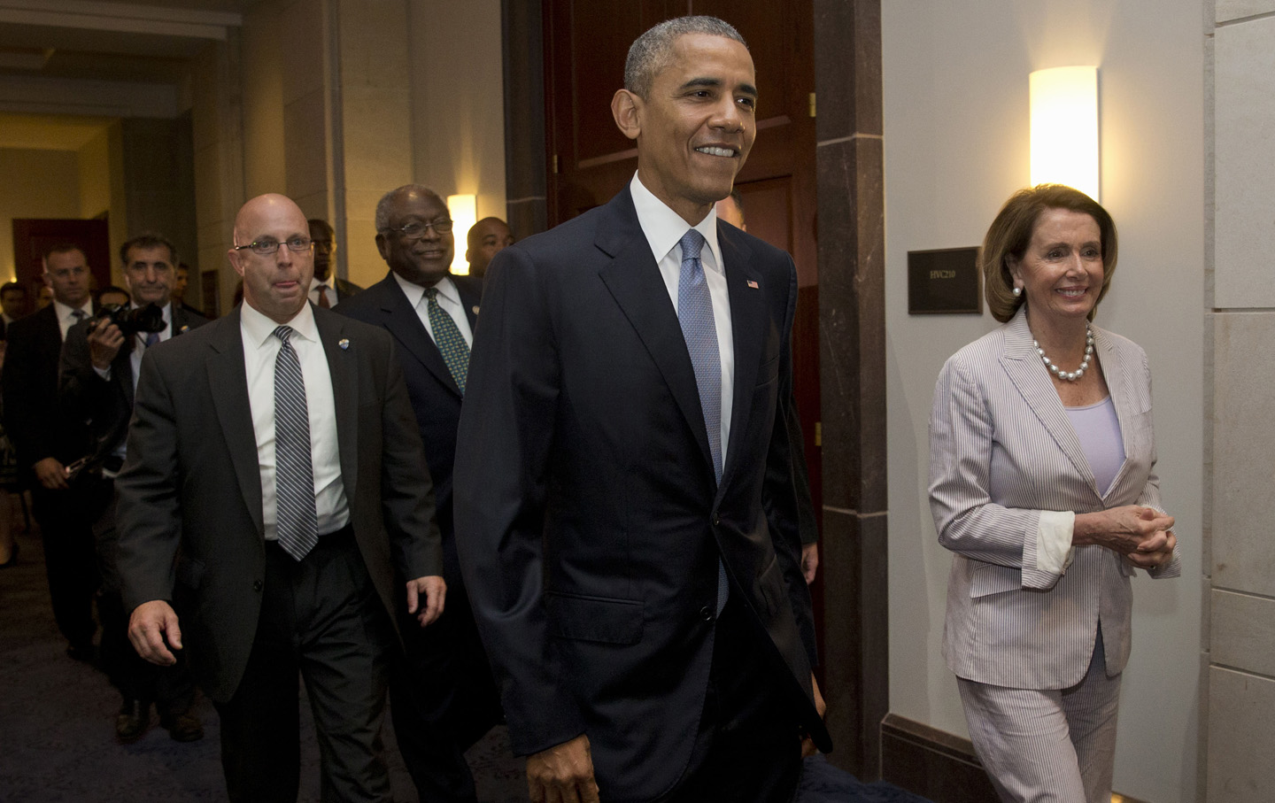 James Clyburn. Barack Obama, Nancy Pelosi