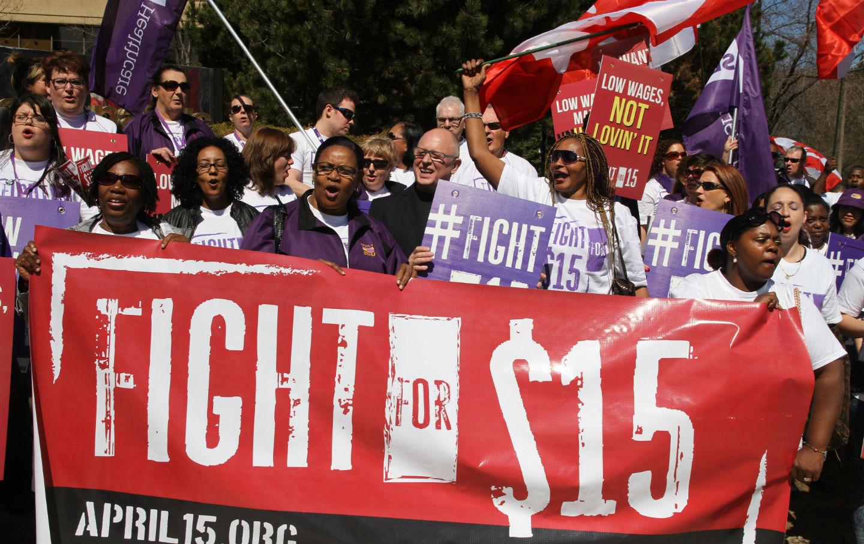 SEIU Wage Protest