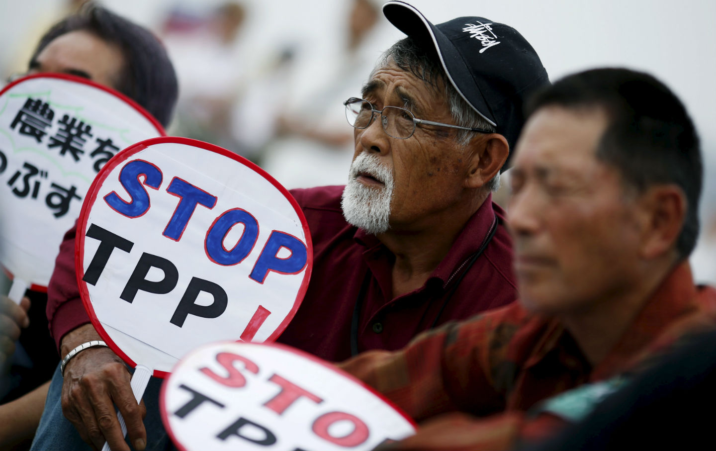 Protest against TPP in Japan